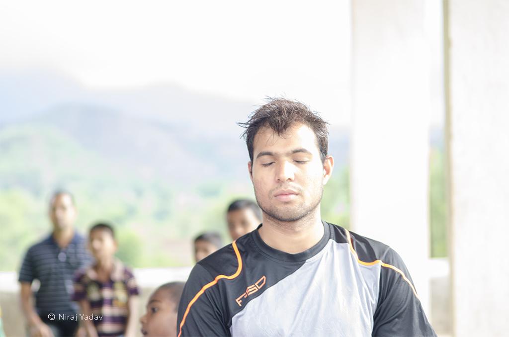 Pranayam on the world yoga day
