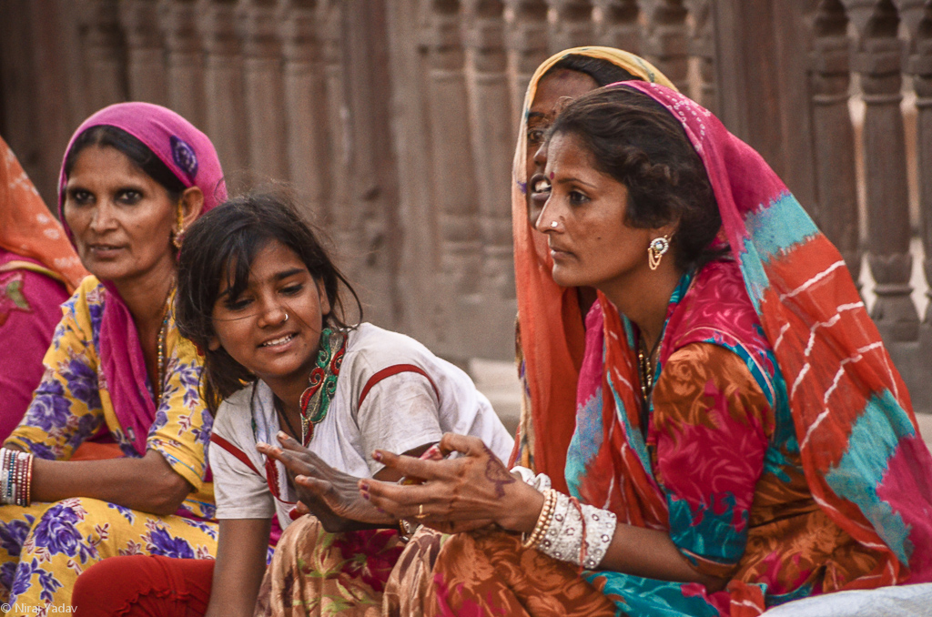 Ladies in ethnic Rajasthani dress