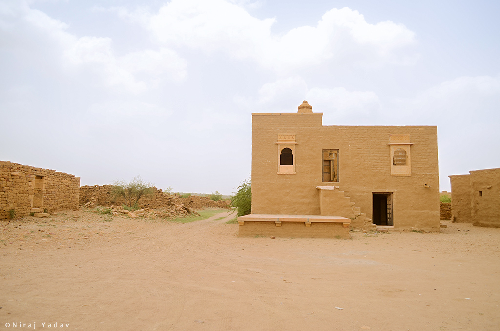 Temple in the haunted village of kuldhara jaisalmer