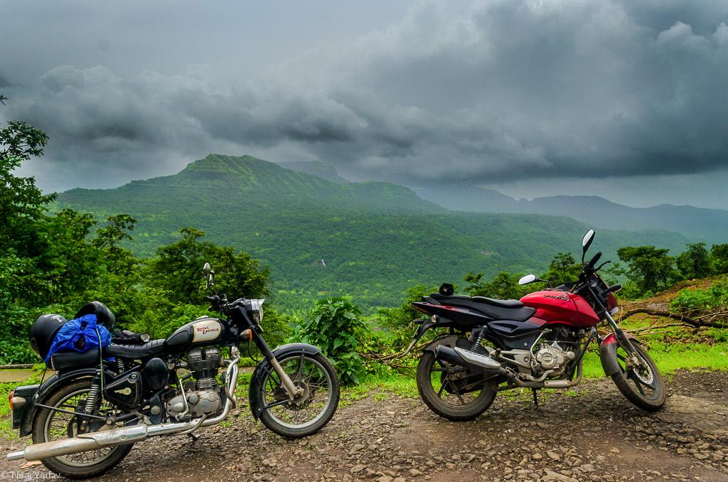 Beautiful western ghat, offroad bikes rides