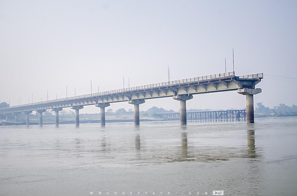 Dumri ghat, kosi river floods, kosi river bridge