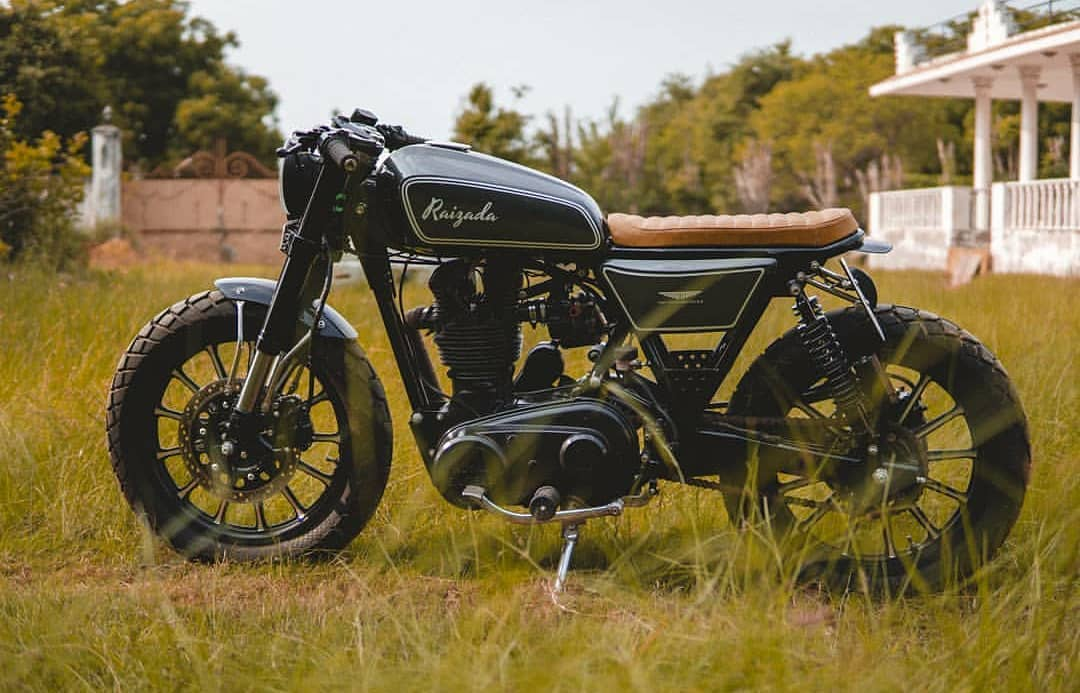 Royal enfield cafe racer modification