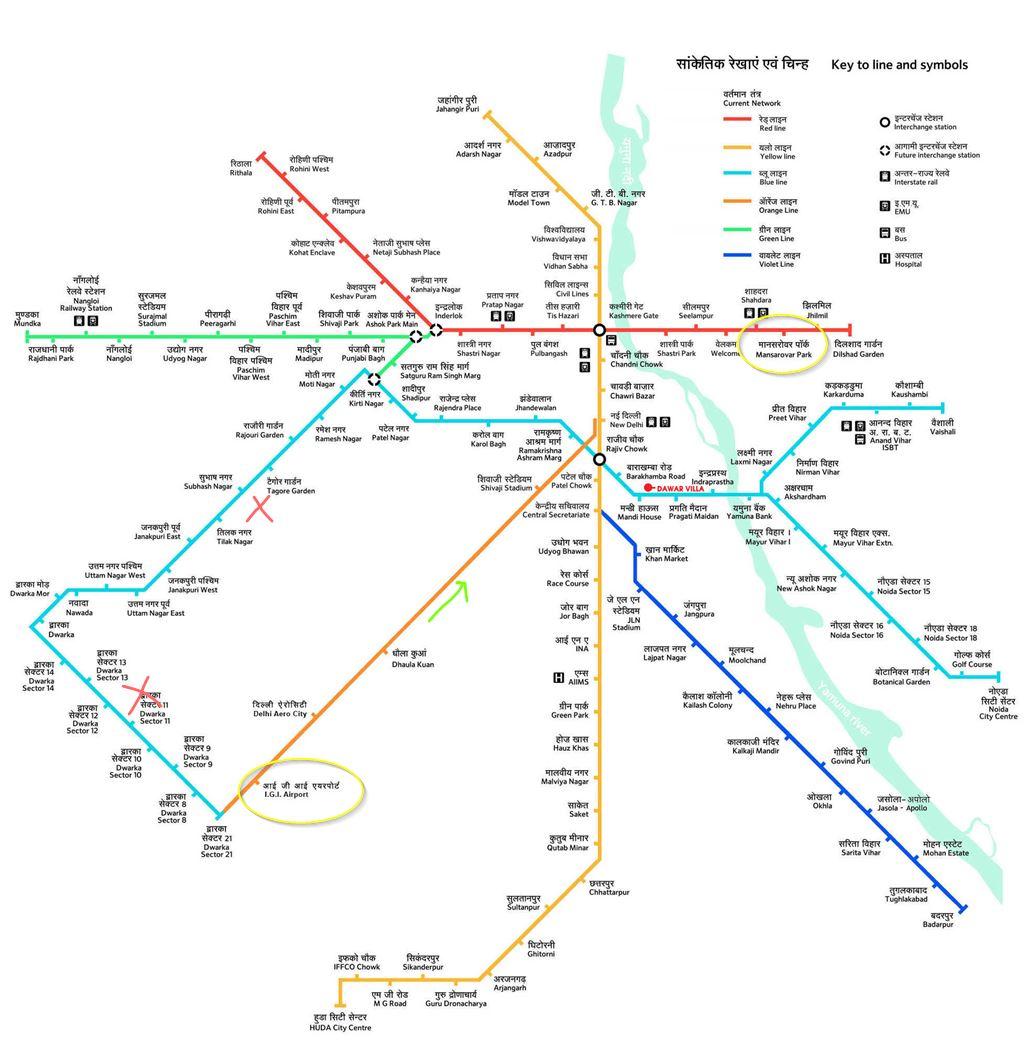 metro map delhi