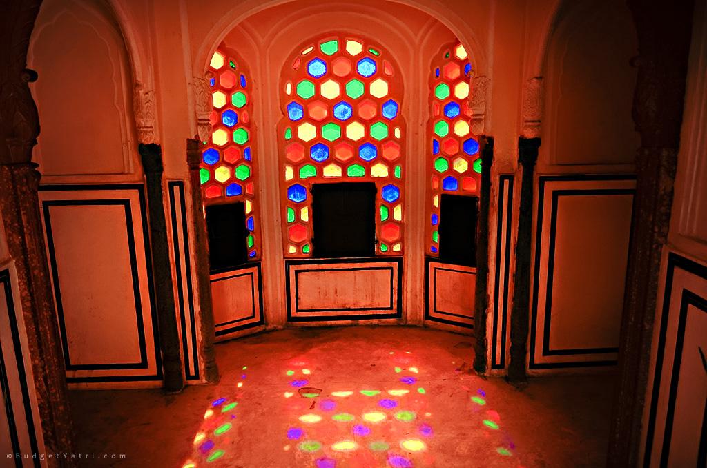 Hawa Mahal Jaipur from inside
