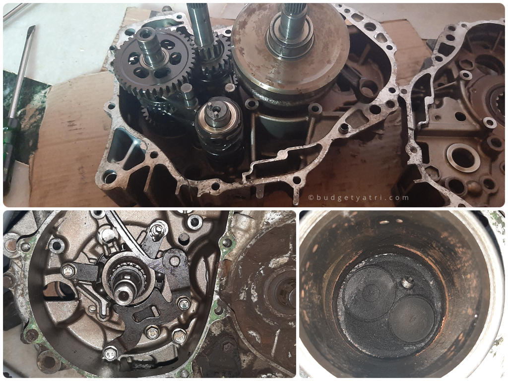Honda unicorn engine disassembly