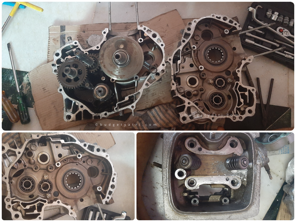 honda unicorn engine repairing