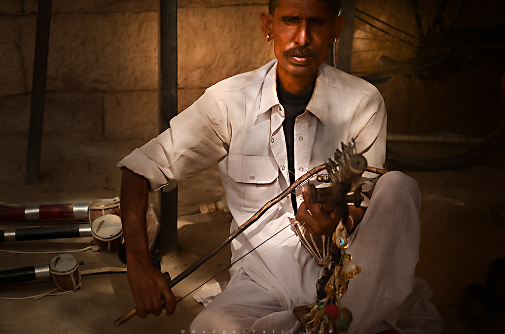 Jaisalmer fort traditional musician