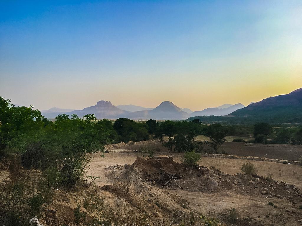 Sunset photo Maharashtra, camping near Malshej ghat