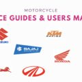 Motorcycles service guides and user manuals