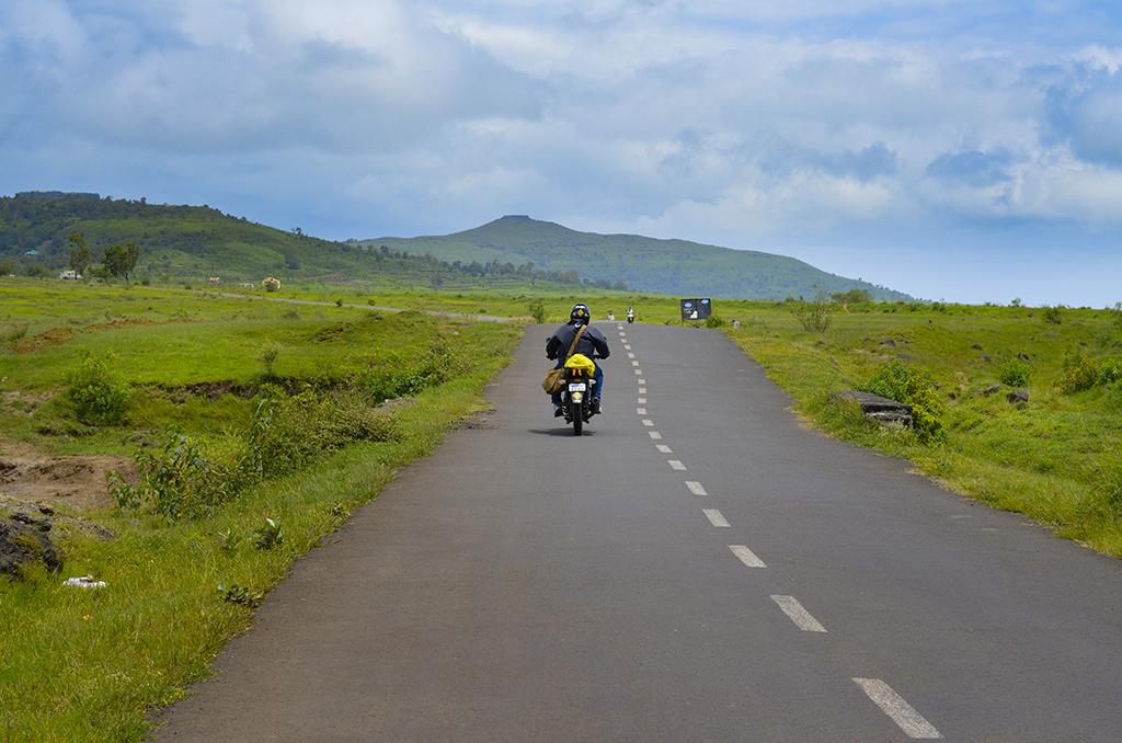 Kaas plateau on bike
