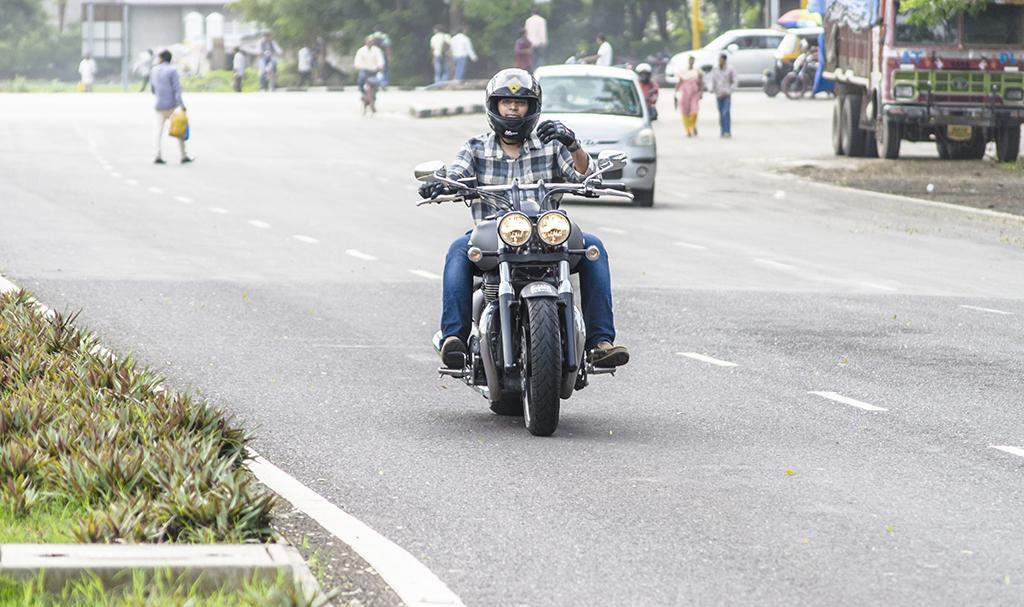 Triumph storm motorcycle