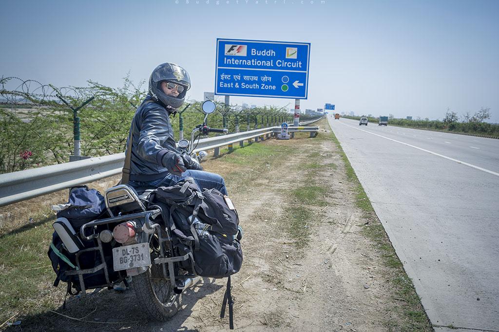 Yamuna expressway on bike