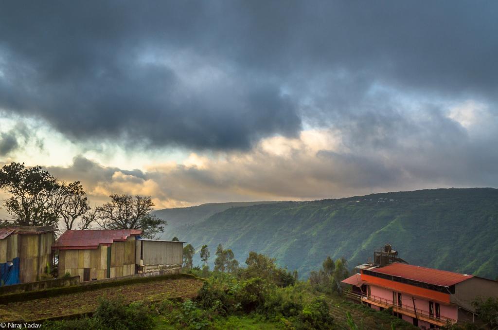 Panchgani Mahabaleshwar morning hotel view