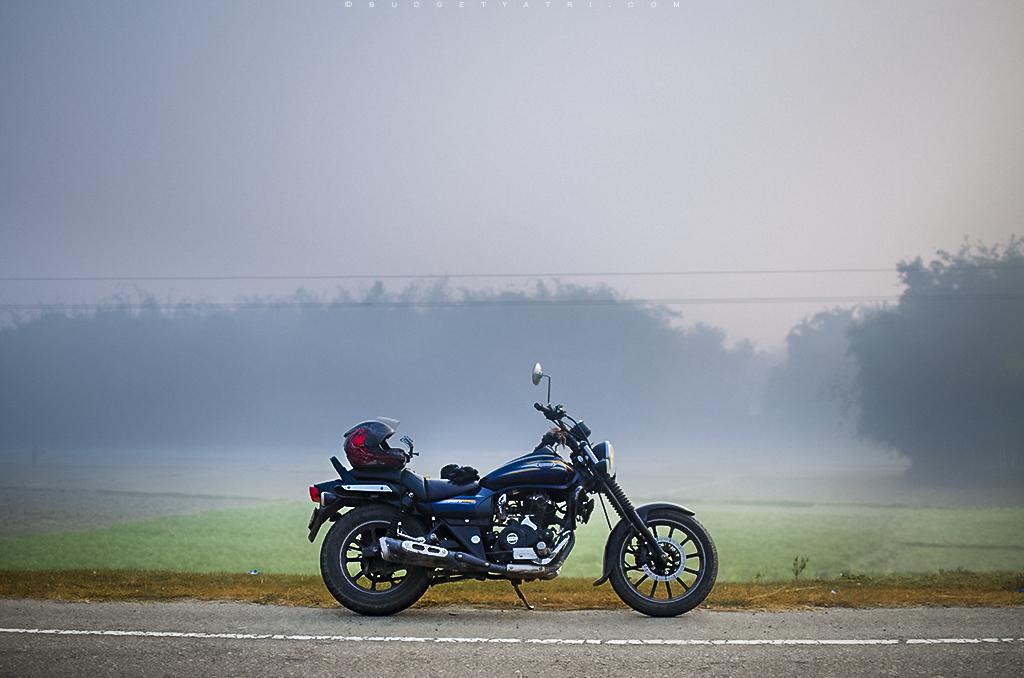 East West Corridor, misty morning, Bihar