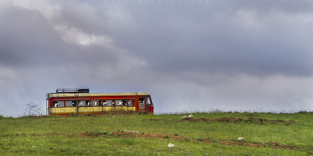 Laal dabba (State Transport bus) near Kaas